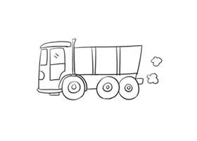 卡车简笔画(二)