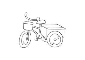 三轮车简笔画