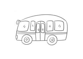 公交车简笔画