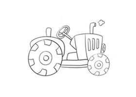 拖拉机简笔画