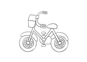 自行车简笔画(三)