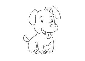 狗狗简笔画