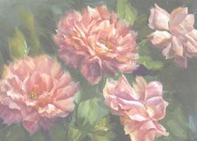 单朵花水粉画法步骤