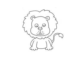狮子简笔画(三)