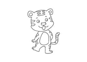老虎简笔画(二)