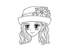帽子卡通画