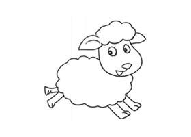 绵羊简笔画(二)