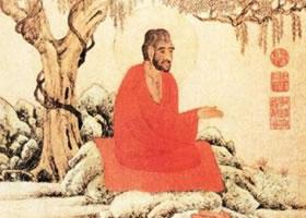 元代赵孟頫《红衣罗汉图》古画赏析