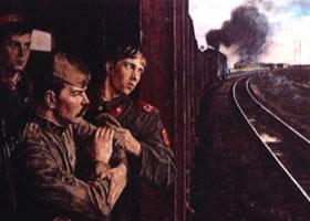 亚历山大•波洛索夫《途中警卫》油画欣赏