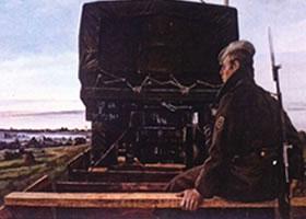 亚历山大•波洛索夫《车轮之歌》油画欣赏
