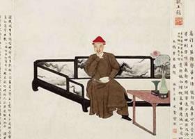 中国《纳兰容若像》古画欣赏