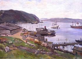 丽迪亚•大卫杰柯娃《白海边》油画欣赏