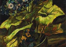 梵高《爪叶菊》布面油画欣赏