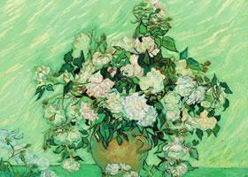 梵高《玫瑰》布面油画欣赏
