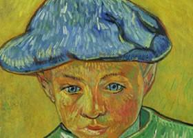 梵高《卡米尔•鲁林画像》布面油画欣赏