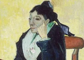 梵高《纪诺夫人画像》布面油画欣赏