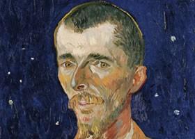 梵高《欧仁•博赫画像》布面油画欣赏