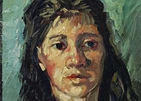 梵高《妇女肖像》布面油画欣赏