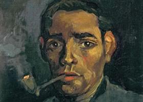 梵高《男人头像》布面油画欣赏