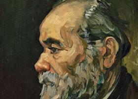 梵高《留着胡须的老人》布面油画欣赏