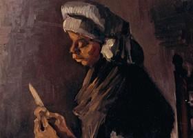梵高《缝衣服的女人》布面油画欣赏
