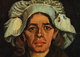 梵高《妇女葛狄雅的画像》布面油画欣赏