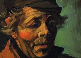 梵高《农夫头像》布面油画欣赏