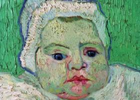 梵高《罗琳婴儿画像》布面油画欣赏