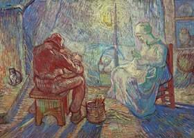 梵高《夜晚》布面油画欣赏