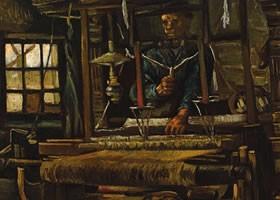 梵高《纺织工的小屋》布面油画欣赏