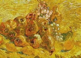 梵高《水果静物》布面油画欣赏