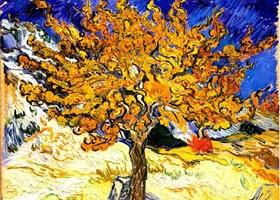 梵高《桑树》布面油画欣赏