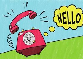 座机电话简笔画涂色