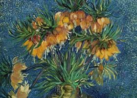 梵高《贝母花》面布油画欣赏