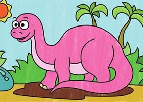 恐龙简笔画涂色