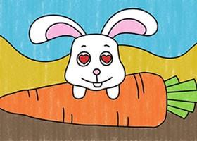 兔子简笔画涂色